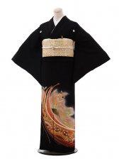 黒留袖レンタル4309寛斎孔雀牡丹赤