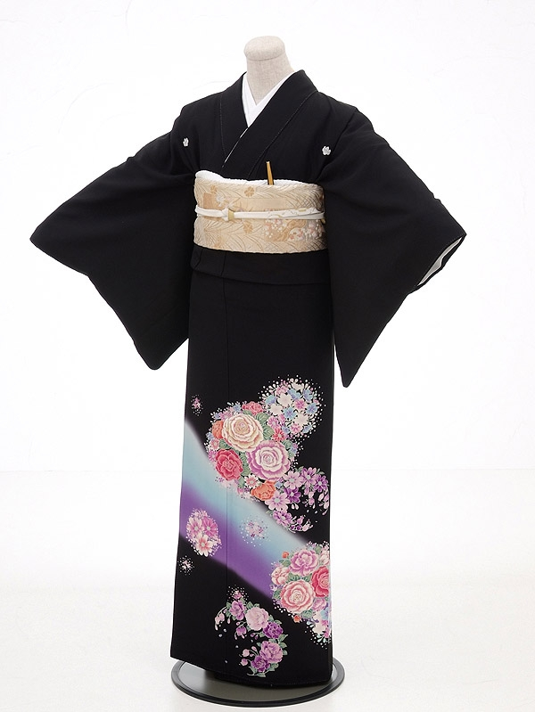 黒留袖レンタル4334HANAE MORI京友禅花鞠ブ