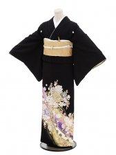 黒留袖4328桂由美バラの慶びパープル