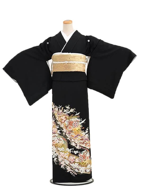 黒留袖レンタルQ4-58束ねのし祝花