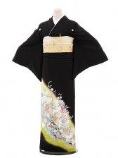 黒留袖4432桂由美グリーンバラと波