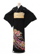 黒留袖C4410 束ね熨斗鶴