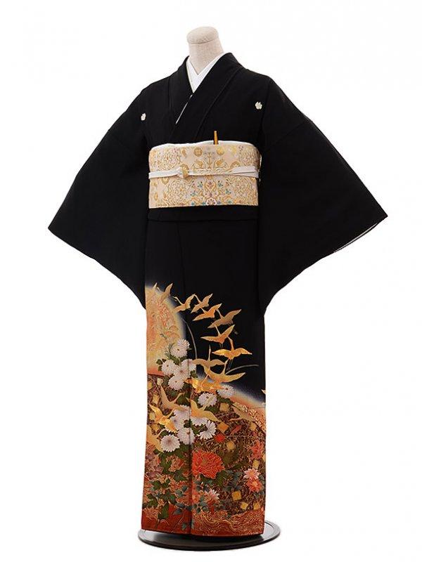 黒留袖レンタル4306寛斎飛鶴菊3