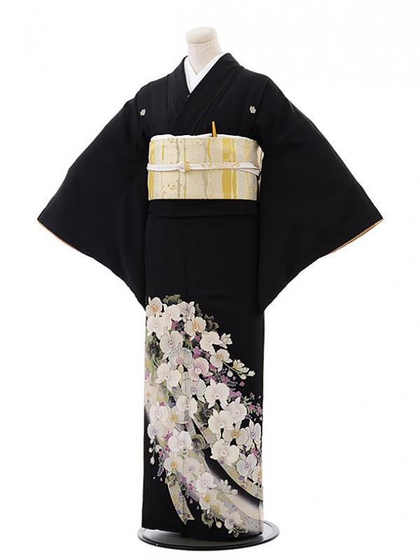 黒留袖レンタル4352桂由美胡蝶蘭
