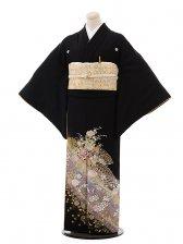 黒留袖レンタル4351桂由美小花扇