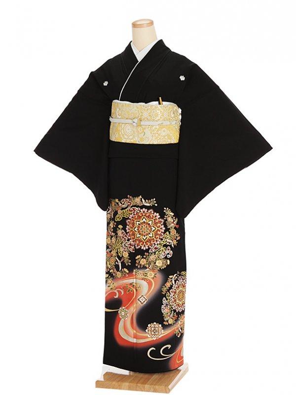 黒留袖レンタル4304寛斎正倉院鏡2