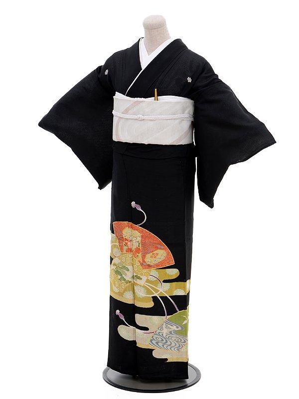 夏留袖4386扇面(化繊 絽)