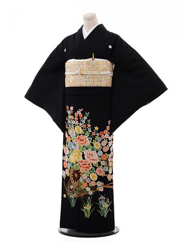 黒留袖レンタル4384総手刺繍総手刺繍パステルカ