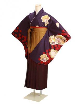 ジュニア袴 卒業式 紫 0269 柄袴【身長150cm位】