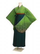 ジュニア袴 卒業式 グリーン 0246【身長150cm位】