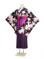 ジュニア袴 卒業式 黒 0294【身長160cm位】