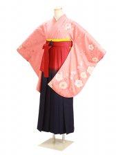 ジュニア袴 卒業式 オレンジ 0277【身長150cm位】