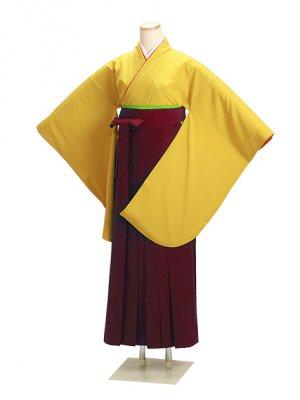 ジュニア袴 卒業式 カラシ 0209 エンジ袴【身長145cm位】
