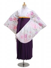 ジュニア袴 卒業式 シルバー 0298【身長155cm位】