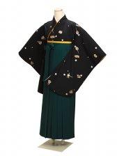 ジュニア袴 卒業式 黒 0253【身長150cm位】