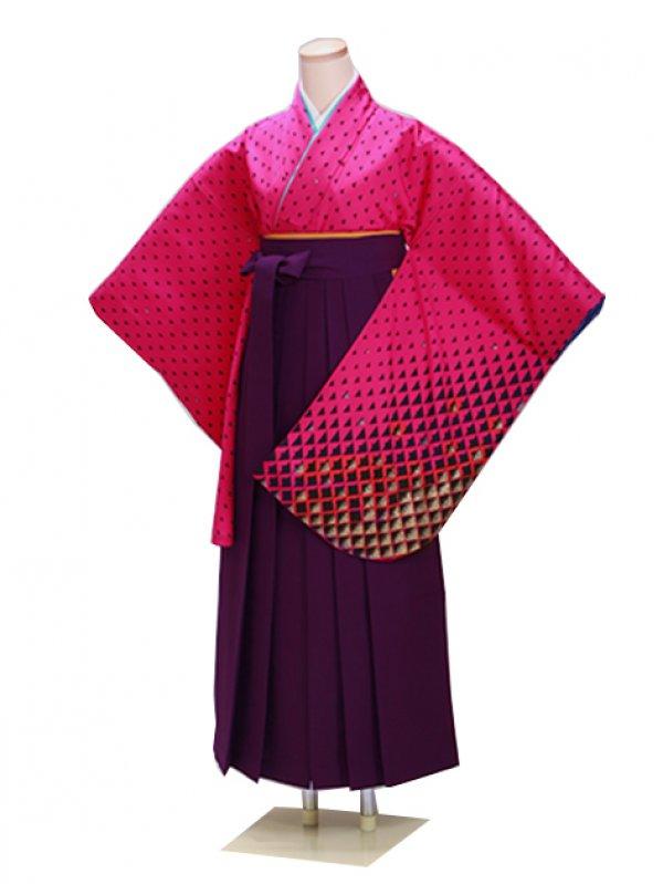 ジュニア袴 卒業式 ピンク 0245【身長160cm位】