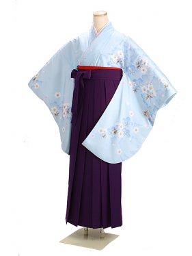 ジュニア袴 卒業式 ブルー 0272【身長150cm位】