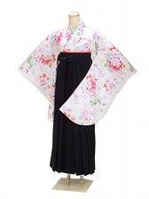 ジュニア袴 卒業式 白 0293【身長155cm位】