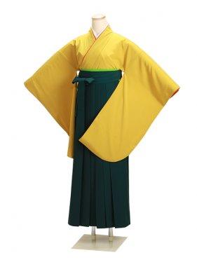 ジュニア袴 卒業式 カラシ 0210【身長160cm位】
