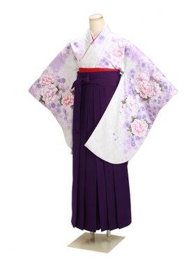 ジュニア袴 卒業式 白 0290【身長160cm位】