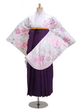 ジュニア袴 卒業式 シルバー 0298【身長150cm位】