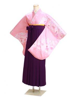 ジュニア袴 卒業式 ピンク 0274【身長160cm位】