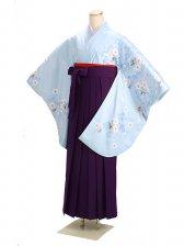 ジュニア袴 卒業式 ブルー 0272【身長160cm位】