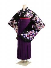 ジュニア袴 卒業式 黒 0292【身長150cm位】