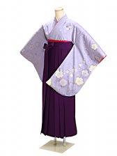 ジュニア袴 卒業式 紫 桜 0278【身長150cm位】