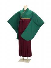 ジュニア袴 卒業式 グリーン 0228【身長155cm位】