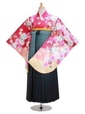 ジュニア袴 卒業式 ローズ 0302【身長160cm位】