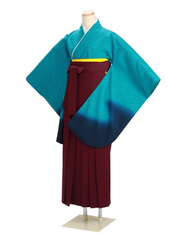 ジュニア袴 卒業式 ブルー 0229【身長155cm位】