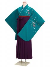 ジュニア袴 卒業式 グリーン 0221【身長150cm位】