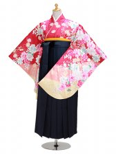 ジュニア袴 卒業式 ローズ 0302【身長150cm位】