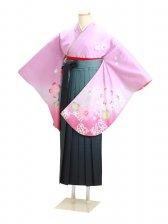 ジュニア袴 卒業式 紫 桜 0280【身長160cm位】