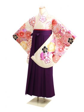 ジュニア袴 卒業式 クリーム 0300【身長155cm位】