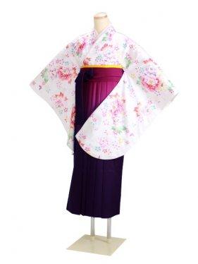 ジュニア袴 卒業式 白 0293【身長160cm位】
