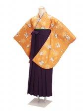 ジュニア袴 卒業式 オレンジ 0281【身長150cm位】