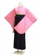 ジュニア袴 卒業式 ピンク 0237【身長150cm位】