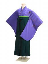 ジュニア袴 卒業式 紫 桜 0222【身長150cm位】