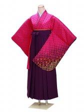 ジュニア袴 卒業式 ピンク 0245【身長150cm位】