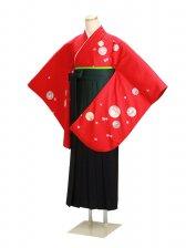 ジュニア袴 卒業式 赤 0270【身長160cm位】