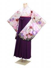 ジュニア袴 卒業式 白ラメ 0303【身長150cm位】