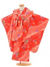 753レンタル(3歳女)H207赤地ピンクぼかし