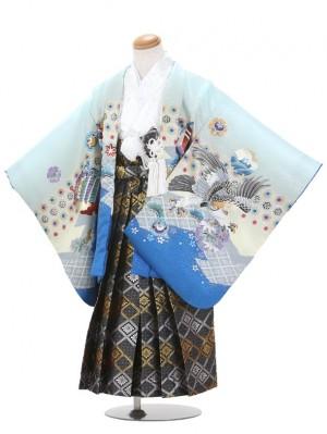 七五三(5歳男児袴)B035/水色・青/鷹