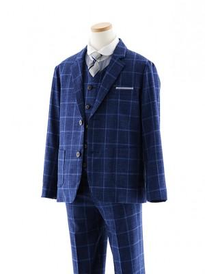 [男児スーツ]長ズボン ロロ・ピアーナ チェック 細身 1012 140cm~