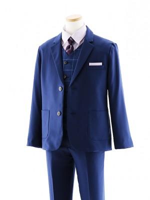 [男児スーツ]長ズボン E.ZEGNA ブルー 細身 1016 140cm~
