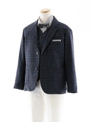 [男児スーツ]長ズボン E.ZEGNA グレー 細身 1018 140cm~
