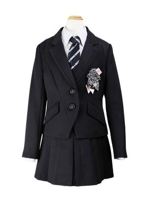 [女児スーツ]ジップ飾り付きプリーツスカートHS06