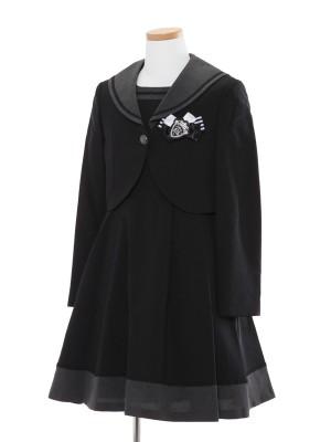 [女児スーツ]黒/セーラーワンピアンサンブル/HS26